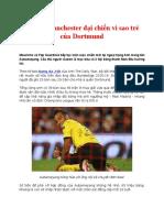 Thành Manchester Đại Chiến Vì Sao Trẻ Của Dortmund