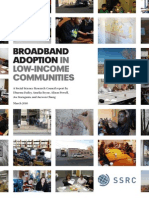 Broadband Adoption in Low Income Communities