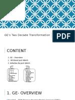 Decade Transformation (GE Case)