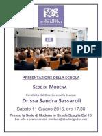 Presentazione Scuola Modena