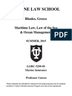 Marine Insurance, Prof. Gurses