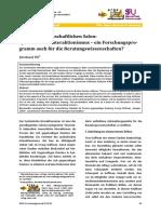 Bernhard Ple - Symbolischer Interaktionismus - Ein Forschungsprogramm Auch Fuer Die Beratungswissenschaft ARGE Forschungsjournal 2014-01