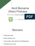 Firebase CRUD