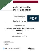stephanie patricia vawser-portfolio workshop certificate