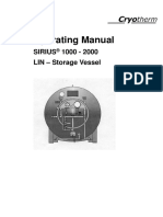 Operating Manual SIRIUS 1000-2000 LIN Storage Vessel Art. No 78211329 Da...