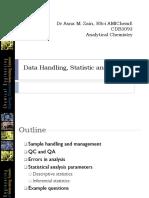 CDB 3093 Data Handling, Statistic and Errors