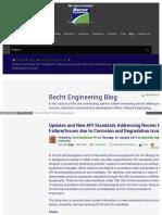Becht Com Blog Updates and New API Standards Addressing Rece
