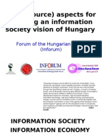 Open (source) aspects for realising an information society vision of Hungary