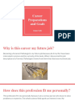 career preparations and goals
