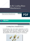A Guide by Leading Brass Manufacturers