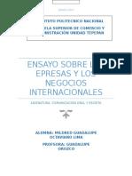 Ensayo Sobre Las Epresas y Los Negocios Internacionales