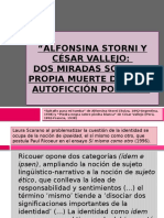 Alfonsina Storni y César Vallejo