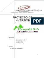 Proyecto de Inversión Reaserradero