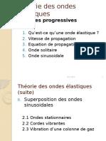 Theorie d'Ondes Elastiques