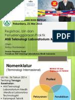 Implementasi UU No. 36 Tahun 2014 Bagi Ahli Teknologi Lab. Medik Menghadapi AEC 2015 - Entuy Kurniawan, S.si, MKM