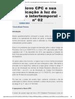 O Novo CPC e Sua Aplicação à Luz Do Direito Intertemporal – Nº 02 _ Prolegis