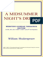 (Webster's Korean Thesaurus Edition) William Shakespeare-A Midsummer Night's Dream -ICON Group International, Inc. (2006)