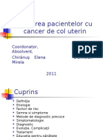 209087609 Ingrijirea Pacientului Cu Cancer de Col Uterin Ppt