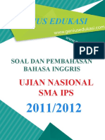 Soal Dan Pembahasan UN Bahasa Inggris SMA IPS 2011-2012