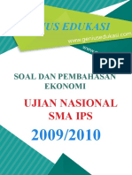 Soal Dan Pembahasan UN Ekonomi SMA IPS 2009-2010