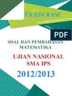 Soal Dan Pembahasan UN Matematika SMA IPS 2012-2013