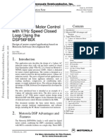 3-Phase AC Motor Control with V/Hz Speed Closed Loop Using the DSP56F80X