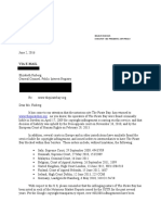 Redacted Letter to Elizabeth Finberg Re the Pirate Bay Dated 6 2 16 Final