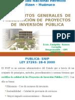 SNIP, resumen(sistema nacional de inversion publica)