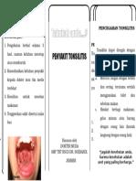 Pamflet Tonsilitis