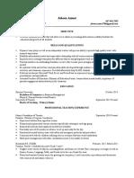 online teacher resume