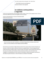 BH Tem 11 Novos Radares Começando a Funcionar Nesta Segunda - Gerais - Estado de Minas