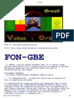 FON-GBE Du Benin