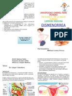Dismenorrea - Diptico