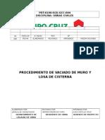 Procedimiento de Trabajo Para La Construcción de Cisterna