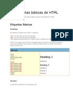 Las Etiquetas de HTML