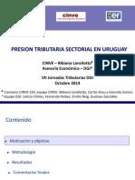 Presión tributaria sectorial Uruguay