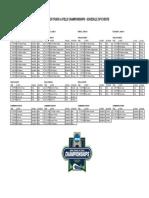 NCAA Schedule