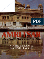 Amritsar Mrs Gandhi's Last Battle by Mark Tully