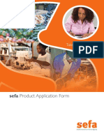 Sefa Product Application Form - Fillable PDF_Online