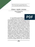 Ritmo sujeto poema Jorge Monteleone