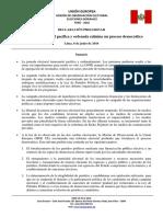 Declaración preliminar sobre la segunda elección presidencial - MOE UE Perú 2016