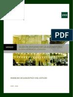 Guia Grado Derecho Eclesiastico Del Estado 2015 2016