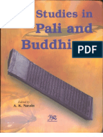 Studies in Pali and Buddhism