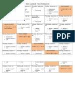 Work Calendar - Toeic
