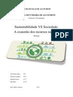 Sustentabilidade VS Sociedade
