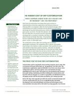 Hidden Cost of Erp Customization