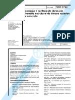 NBR 08798 - 1985 - Execução e Controle de Obras Em Alvenaria