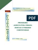Projeto Tecnico Hortas Comunitarias