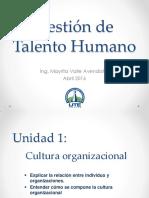 Cultura Organizacional Gestión de Talento Humano