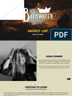 The Baby Bathwater Institute July Faculty